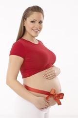 Portrait of beautiful young pregnant mother