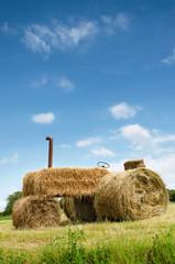 Erntedank Traktor aus Heu - Thanksgiiving Hay Tractor