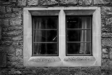 window from old tudor, elizabethan or georgian house