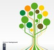 Growth tree concept for communication, eco, social media