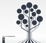Fototapety rowth tree concept for communication, business, social media