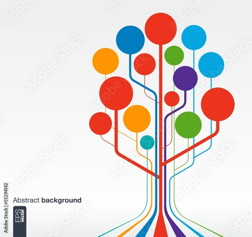 Growth tree concept for communication, business, social media