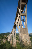 Tara concrete arc bridge in the mountains poster