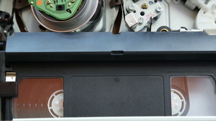 video cassette recorder VHS