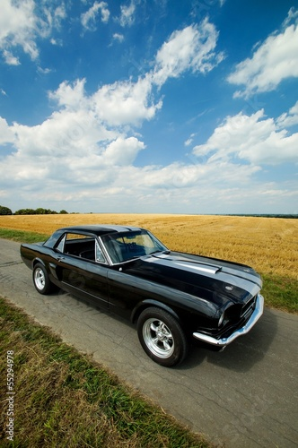 canvas print picture Oldtimer Ford Mustang