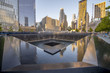 NEW YORK CITY - MAY 21: 9/11 Memorial geometric architecture and