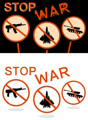 Stop war banner
