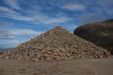 Islanda montagna di pietre vulcaniche