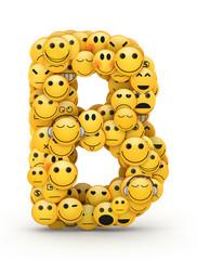 Emoticons letter B
