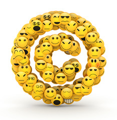 Emoticons  copyright symbol