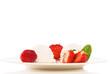 vanilleeis mit erdbeeren