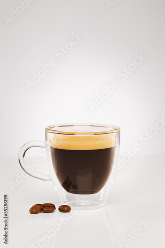 canvas print picture espresso mit kaffee bohnen