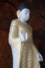 Buddha Statues in a Burmese Buddhist Temple