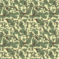 Military camouflage seamless texture. Vector
