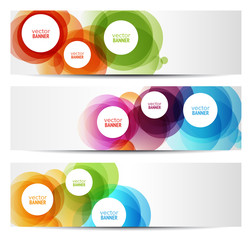 colorful banners - circles