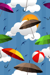 Wallpaper of colorful umbrellas