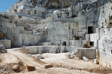 industrial marble quary site on Carrara, Tuscany, Italy