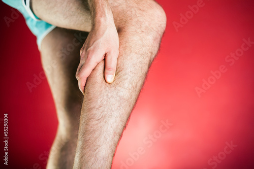 Running physical injury, leg calf pain