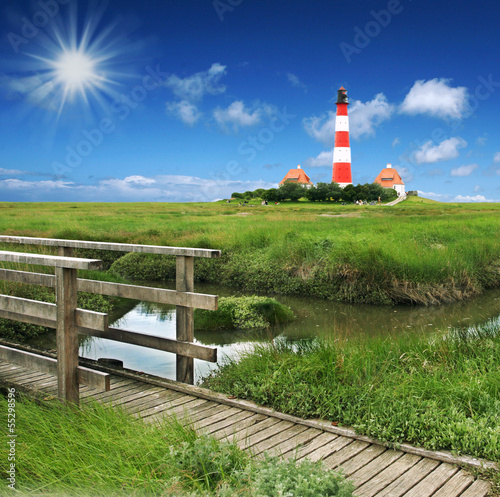 Fototapeten,leuchtturm,natur,sonne,sommer