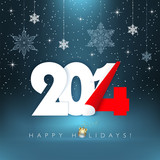 2014 happy holidays greeting card