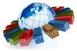 International container transportation icon
