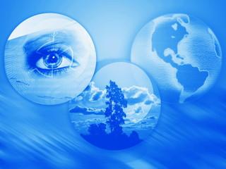 naturaleza, tecnología y el planeta