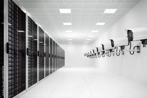 datacenter with cctv camera