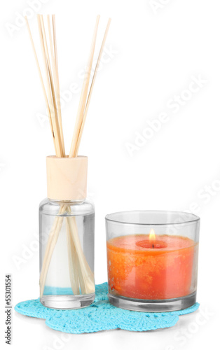 Aromatic sticks for home with smell of lavender isolated