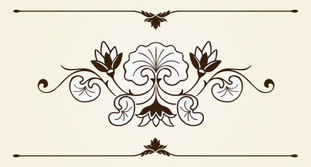 Floral ornament design element