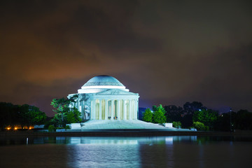 The Thomas Jefferson Memorial in Washington, DC