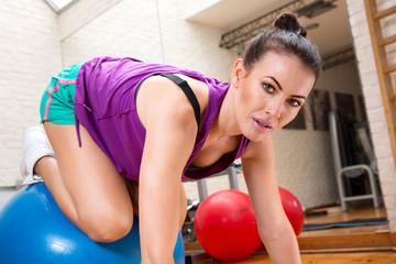 Beautiful aerobics instructor
