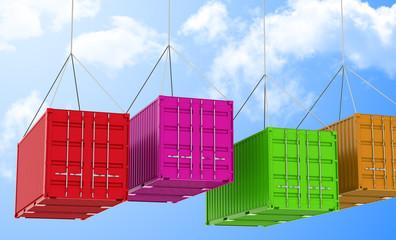 Die fliegenden Container