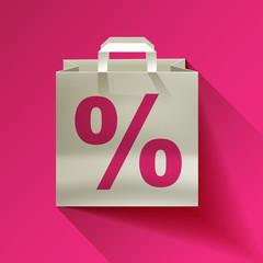 Papier Tache Weiß Prozent Hintergrund Pink