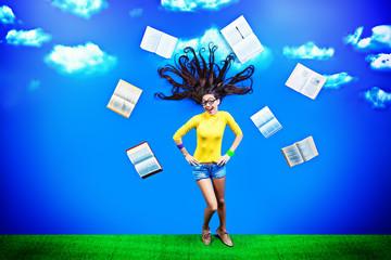 books in a sky