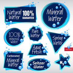 Various Vector Water Labels
