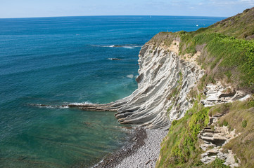 Flysch of Zumaia, Guipuzcoa, Basque Country (Spain)