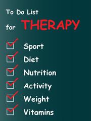 Conceptual health to do list on blackboard