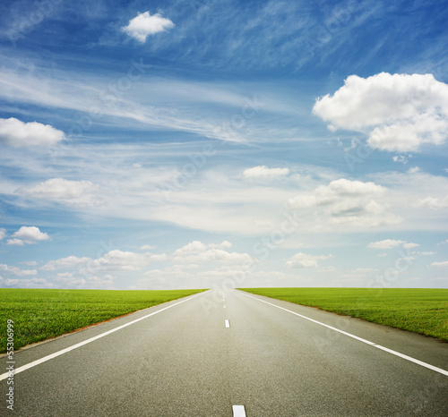 beautiful view of roadway