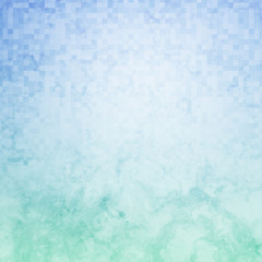 Blue and Green Pixel Grunge Background