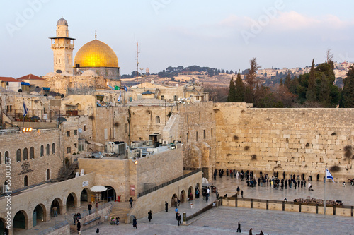 Foto op Canvas Bedehuis Wailing Wall Jerusalem