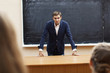 serious teacher
