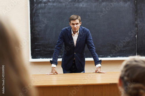 serious teacher