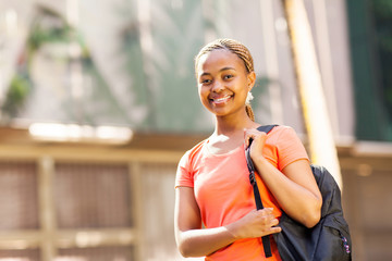 female african college student at the university