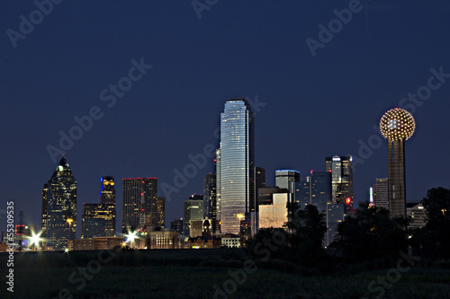 Dallas down town night skyline