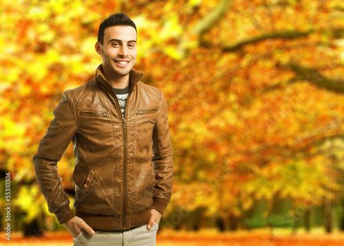 Autumnal young man portrait