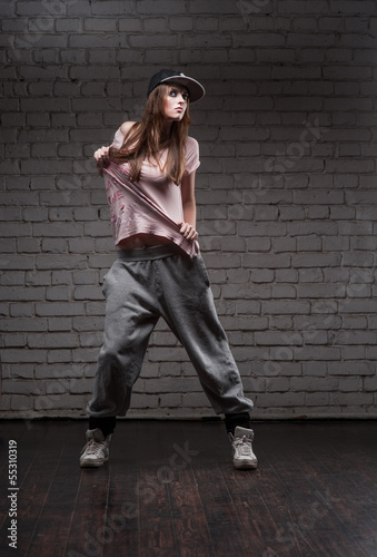 female hip-hop dancer