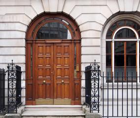 front door, elegant London townhouse
