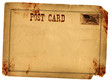 Blood Stained Vintage Postcard