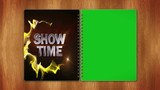 Show Time in Book, with Green Screen, Loop