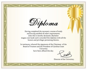 Vintage frame, certificate or diploma template II